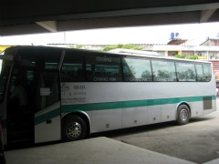 De green line bus naar Chang Rai