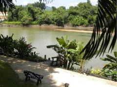 Uitzicht vanuit het Oriental Kwai Resort