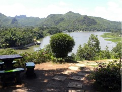Uitzicht over de rivier Kwai