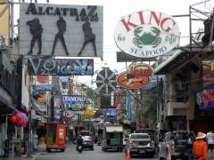 Pattaya walking street in de morgen
