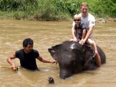 Tycho gaat ook op de olifant in de rivier