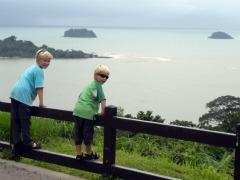 Zeb en Tycho genieten van het uitzicht