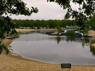 Het strand bij Vakantiepark het Stoetenslagh