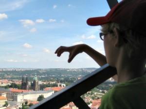 Uitzicht op de Praagse burcht