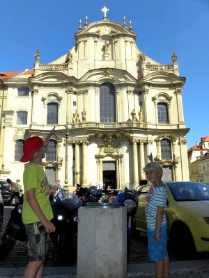 De Sint Nicolaas kerk in Praag