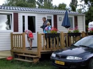 Onze stacaravan bij camping Oase Praha