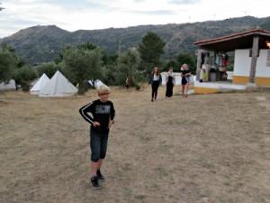 Het camping-gedeelte op landgoed Dominio do Vale Mondego
