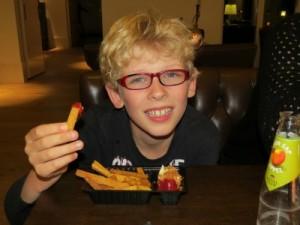 Desert-friet bij Grand Cafe Hof van Saksen