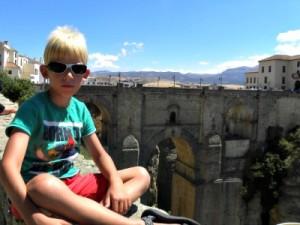 Tycho voor de beroemde brug van Ronda
