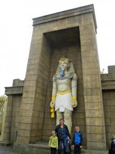 Poseren bij de Lego Pharao