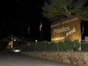 De toegang bij Camping Prades