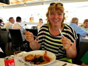 Kreeft eten in Cambrils