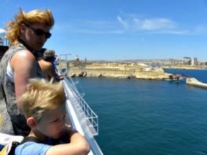 Aankomst in de haven van Malta