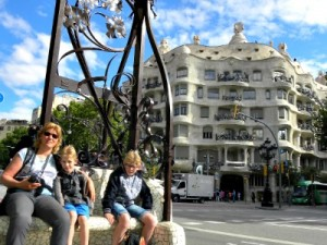 Casa Mila, ontworpen door Gaudi