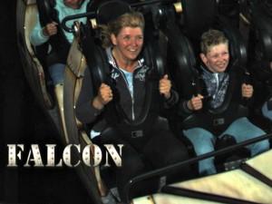 Samen met Zeb in de Falcon achtbaan