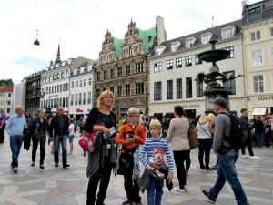 Wandelen in de mooie binnenstad van Kopenhagen