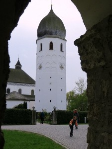 Kerktoren op Fraueninsel