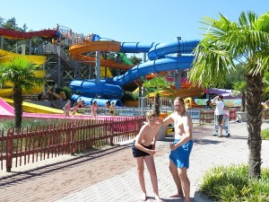 Twee binken in het Aquaventura Slidepark