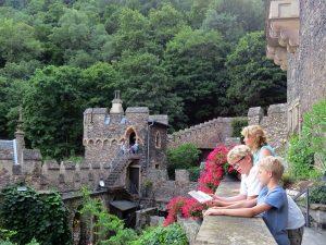 Bij het kasteel Burg Rheinstein