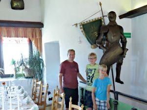 Het mooie restaurant van Burg Ronneburg