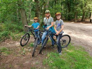 Poseren met onze mountainbikes