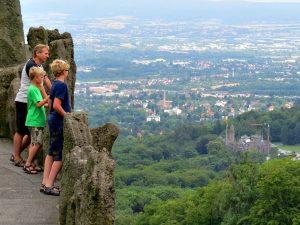 Uitzicht over Kassel vanaf het beeld van Hercules