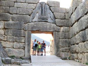 De leeuwenpoort van Mycenae