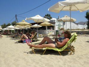 Saint George beach bij Naxos stad
