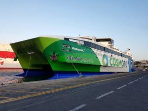 De snelle veerboot naar Kreta