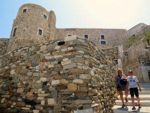 Het Venetiaanse kasteel in Naxos srad