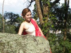 Fotomodel bij Chiang Mai