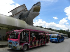 Ingang van het aquarium in de dierentuin van Chiang Mai