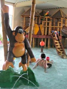 Peuterbad bij het zwembad in vakantiepark Beekse Bergen