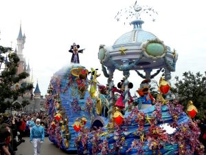 Mickey in de Parade van Disneyland