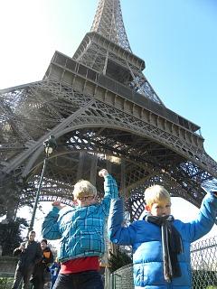 Eiffeltoren met Zeb en Tycho