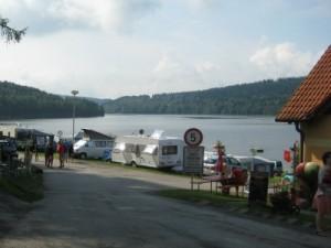 Aankomst bij camping Frymburk