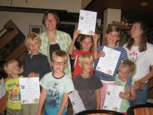 Alle kinderen hebben een certificaat gekregen