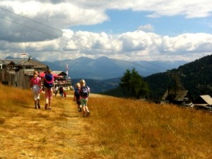 Op pad in de bergen