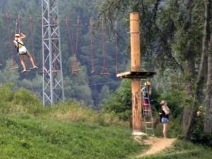 Het klimpark bij Lipno