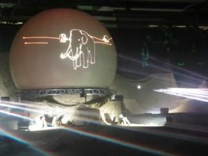 Lasershow over de geschiedenis van de Hondsrug