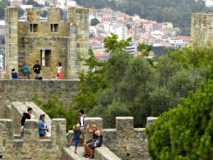 Het kasteel in Lissabon