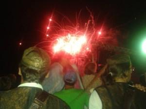 Vuurwerk bij Rabska Fjera