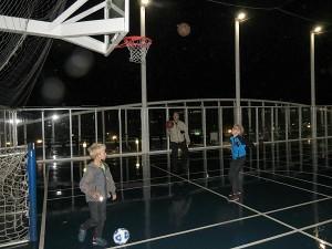 Basketballen op de Oasis of the Seas