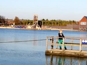 Vlot over het meer Hof van Saksen