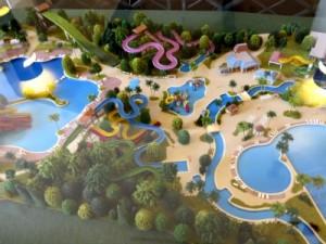 Maquette van het Aquapark van Port Aventura