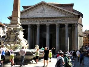 Zeb spettert zijn vader nat bij het Pantheon