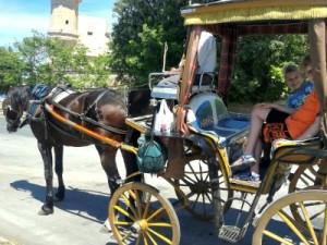 In de paardenkoets op Malta