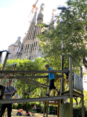 Leuke speeltuin bij de Sagrada Familia