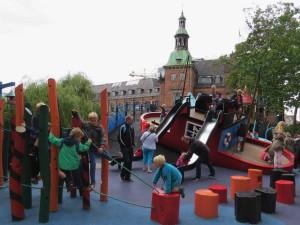 Een deel van de speeltuin in Tivoli Kopenhagen