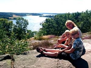 Uitzicht vanaf Gamleby Folkpark